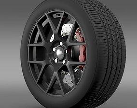Dodge Challenger RT Shaker wheel 2015 3D