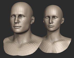 Base Head Meshes for Blender 3D model