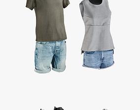 Mens and Womens Clothing Collection 7 3D model