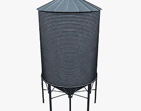 3D asset Grain silo