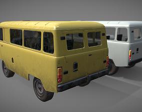 3D model Soviet era van low poly