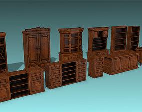 Antique Closet and drawer set 3D asset