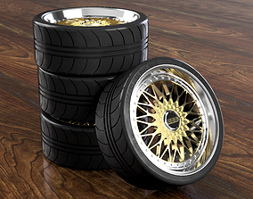 BBS RM rim with brakes and pneumatics 3D printable model