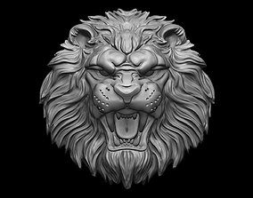 3D print model Lion relief for pendant or wall