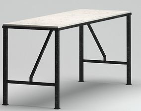 Black and white table 3D