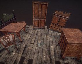 Antique Furniture Pack 36Prefabs I PBR 3D model