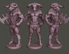 Minotaur Warrior Stand two 3D printable model