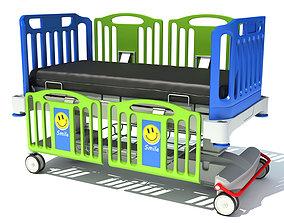3D model Medical Hospital Bed for Children