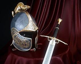 3D Dragon Helm and Dragon Sword of Dor Lomin
