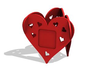 Heart photo frame 3D printable model