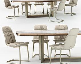 3D Cattelan Italia Kelly chair Dragon table