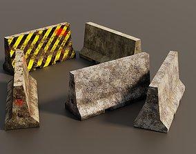 Concrete barriers 3D