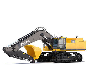 3D model Excavator Deere 870G