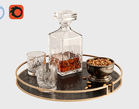 3D Coffee table tray whiskey props