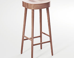 3D COX and COX Weathered Oak Counter Stool