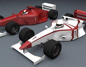 Formula 1 Car Type 3D Models circuit game-ready