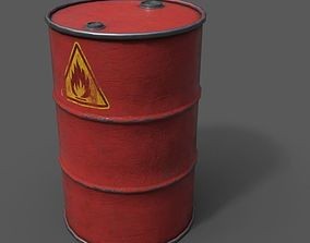 Oil Drum 3D asset VR / AR ready