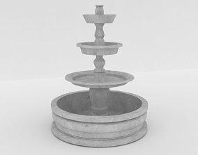spring fountain 3D model