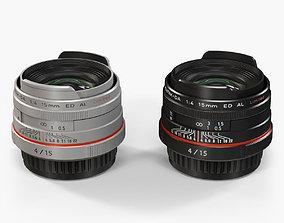 Pentax HD DA 15mm f-4 ED AL Limited 3D asset