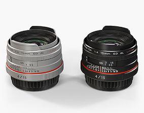 3D model Pentax HD DA 15mm f-4 ED AL Limited Lens
