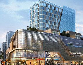 3D modular skyscraper City Shopping Mall
