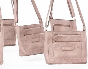 Pink Leather Shoulderbag 3D model