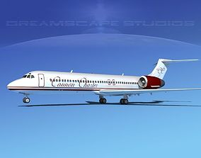 3D model Boeing 717-200 Cannon Charter