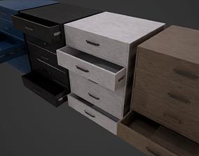 Dresser Draw Unit - 4 Textured Versions 3D asset