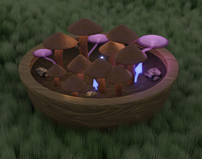 3D Mushrooms mobile