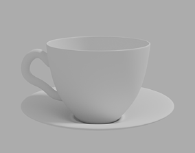 COFFEE CUP WITH SAUCER 3D print model kitchen