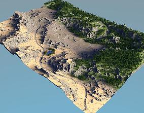 biomes01 forest to desert 3D model