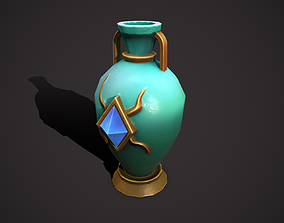 3D model low-poly amphora