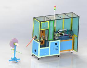 3D model Film laser alignment cutting machine