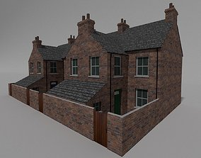 Redbrick uk semi detached victorian 3D model