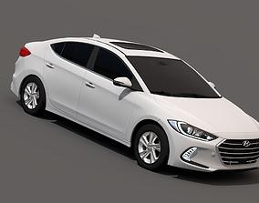 Hyundai Elantra 2017 3D asset