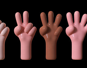3D asset Toon hands with skin colors