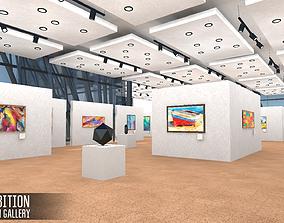 3D asset Exhibition - modern gallery