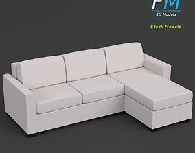 3D Angular couch sofa