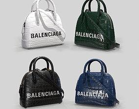 3D model Balenciaga Ville Top Handle XXS Bag Crocodile 1