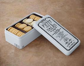 3D model Food Cookies Metal Box Opened