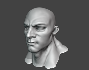 Male head face sculpt 3D model