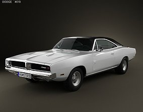 3D model Dodge Charger RT 1969