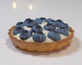 Blueberry tartlet 3D