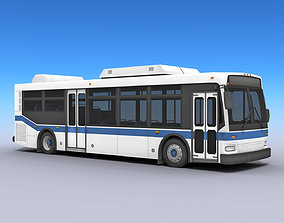 3D asset City Bus