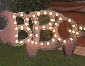 BBQ The Pig Sign 3D model
