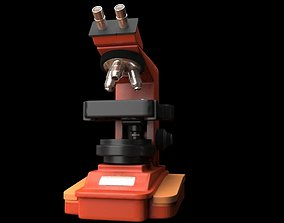 3D model low-poly MICROSCOPE