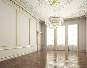 hall Classic Interior Room 3D