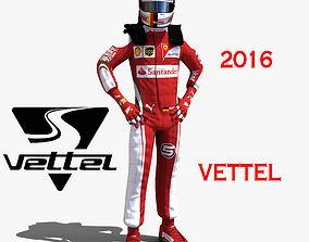 Sebastian Vettel 2016 3D model