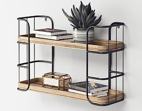 3D Rustic Shelf Unit - Small