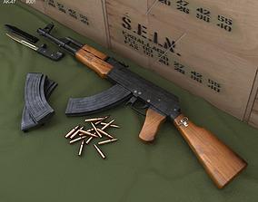 AK-47 with bayonet 3D model